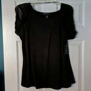 Black shirt with Transparent Sleeve